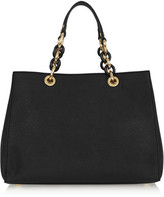 MICHAEL Michael Kors Cynthia Medium Textured-leather Tote - Black