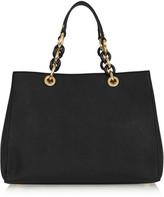 MICHAEL Michael Kors Cynthia Medium Textured-leather Tote - Black