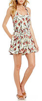 Free People Dear You Sleeveless Printed Mini Dress