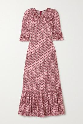 The Vampire's Wife The Gloria Ruffled Tiered Floral-print Cotton-poplin Maxi Dress - UK6