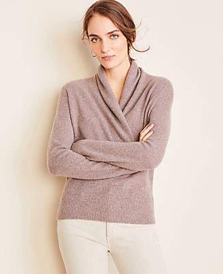 Ann Taylor Petite Cashmere Wrap Sweater