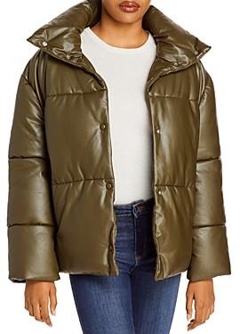 Bagatelle.Nyc Bagatelle. nyc Oversize Faux Leather Puffer Jacket