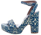 Tabitha Simmons Platform Leather Sandals