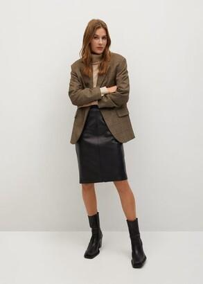 MANGO Faux-leather pencil skirt
