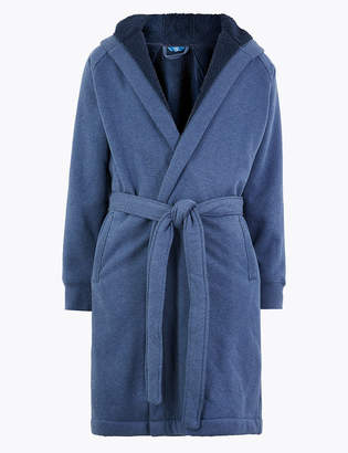 Marks and Spencer Supersoft Jersey Hooded Dressing Gown