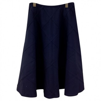 Junya Watanabe Navy Wool Skirt for Women