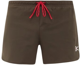 District Vision Simon Logo-print Stretch-jersey Shorts - Khaki