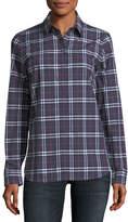 Burberry Check Long-Sleeve Shirt