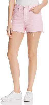 Levi's 501 High Rise Cutoff Denim Shorts in Light Pink