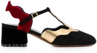 Marni block heel slingback pumps