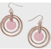 Dorothy Perkins Womens Enamel Discs Drop Earrings- Pink