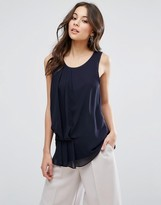 French Connection Florrie Drape Tunic Top