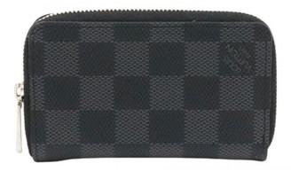 Louis Vuitton Zippy Black Cloth Wallets