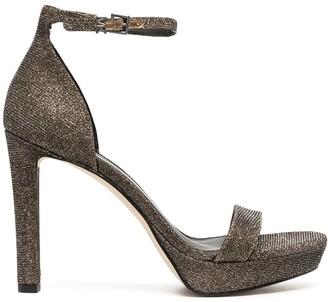 MICHAEL Michael Kors Glitter Platform Sandals