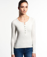 Superdry Essentials Twist Yarn Grandad Top