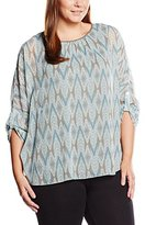 Via Appia Women's Loose Fit 3/4 sleeve Blouse - Multicoloured