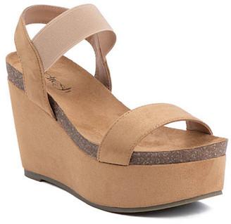 Refresh Women's Sandals CAMEL - Camel Gracie Wedge Sandal - Women
