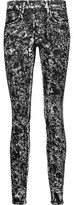 Proenza Schouler Mid-Rise Coated Skinny Jeans