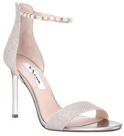 Nina Deena Embellished Glitter Dress Sandals