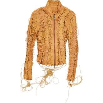 Plein Sud Jeans Camel Leather Jackets