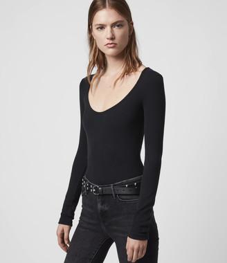 AllSaints Raffi Scoop Neck Bodysuit