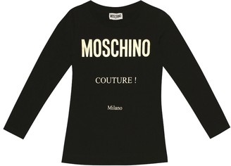MOSCHINO BAMBINO Stretch cotton top