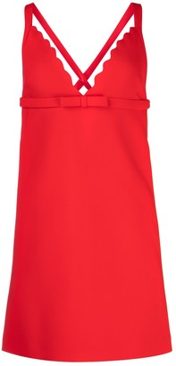 Miu Miu Scalloped V-Neck Dress