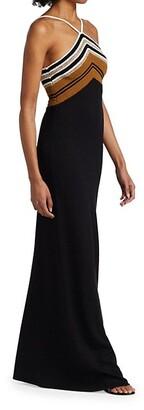 Proenza Schouler Stripe Knit Halter Dress