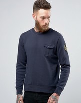 Brave Soul Military Badged Crew Neck Jersey Sweat