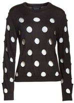 Simone Rocha Women's Cutout Polka Dot Sweater