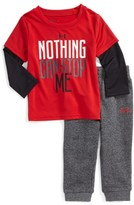 Under Armour Infant Boy's Nothing Can Stop Me Layered T-Shirt & Sweatpants