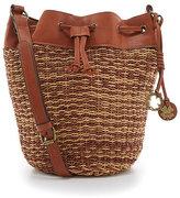 Lucky Brand Kenya Woven Straw Drawstring Bucket Bag