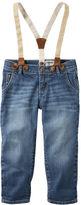 Osh Kosh Sparkle Suspender Jeans - Branson Blue