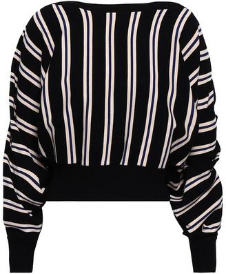 3.1 Phillip Lim Ruffle-trimmed Intarsia-knit Sweater