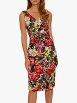 Thumbnail for your product : Gina Bacconi Karesa Wrap Floral Midi Dress, Black