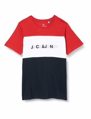 Jack and Jones Men's JJELOGO Blocking TEE SS JR Shirt