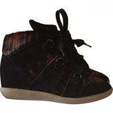 Isabel Marant Calf velvet leather and calf hair printed leather