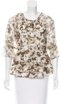 Alice + Olivia Camouflage Silk Top