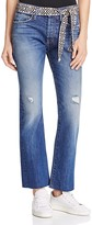 Current/Elliott The Crossover Cropped Flare Jeans in Ricon Destroy
