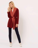 Jaeger Wool And Cashmere Double Face Duster Coat