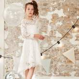 River Island Girls white lace flower girl dress