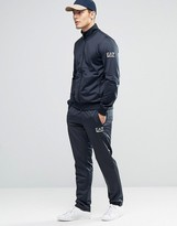 Emporio Armani Ea7 Tracksuit Set In Tricot In Navy