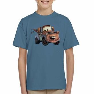 Disney Tow Mater Smile Kid's T-Shirt Indigo Blue