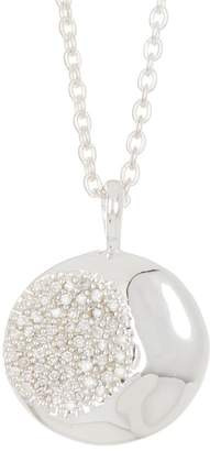 Ippolita Sterling Silver Onda Large Necklace with Pavé Diamond - 0.21 ctw