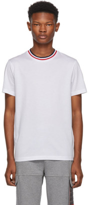 Moncler White Maglia Contrast Collar T-Shirt