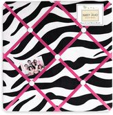 JoJo Designs Sweet Funky Zebra Fabric Memo Board in Pink