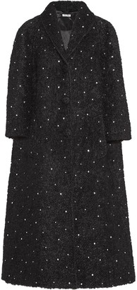 Miu Miu Crystal Embellished Long Coat