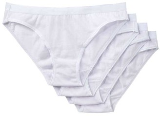 Joe Fresh Women's 4 Pack Bikinis, White (Size M)
