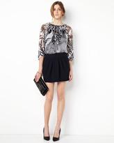 Diane von Furstenberg Jan Knit Pleated Skirt, Navy