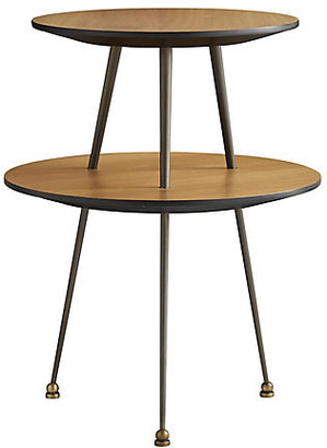 Arteriors Jolie Accent Table - Walnut/Black
